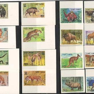 фауна Вьетнам-1981 животные Азии, полный Б/З выпуск (поля, углы, кц 22е)