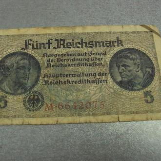 банкнота 5 рейхсмарок 1939 германия №47