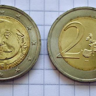 Португалия 2 евро, 2017, 150 лет со дня рождения Рауля Брандао