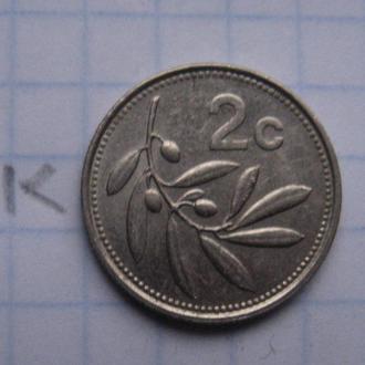 МАЛЬТА, 2 цента 1993 г.