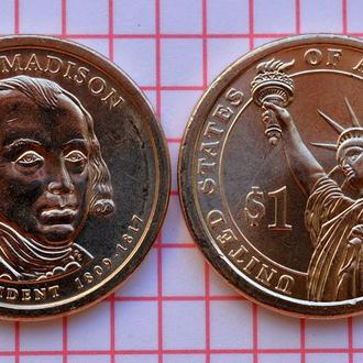 1 доллар, 4-й президент США Джеймс Мэдисон , 2007 г