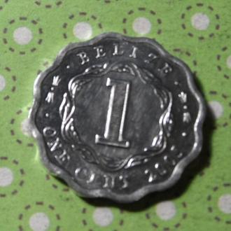 Белиз 2005 год монета 1 цент !