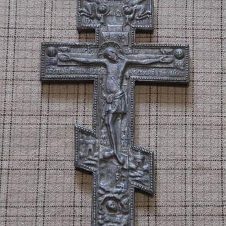Большой христианский Крест с изображениями по теме староверов