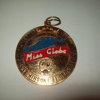 Медаль нашейная Miss globe international 1991
