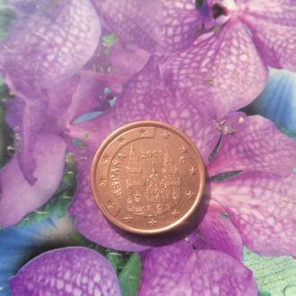 Испания 5центов 2001г