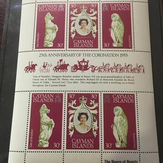Каймановые острова. 1978. MNH. Годовщина коронации