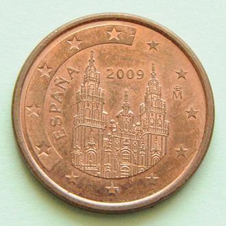 (А) Испания 5 евроцентов евро центов 2009