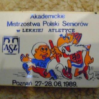 Академічні змагання з легкої атлетики 1989р
