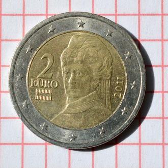 Австрия 2 евро, 2011 из оборота
