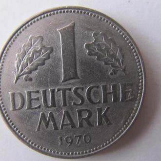 1 марка 1970 G Германия - ФРГ