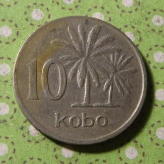 Нигерия 1976 год монета 10 кобо !
