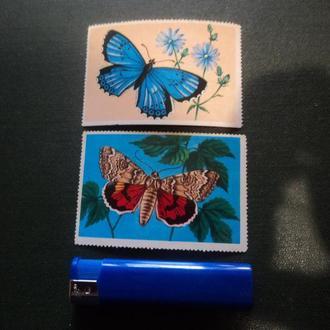 Бабочки. Не почтовые. Зарубеж.