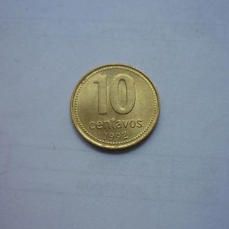 Аргентина 10 сентаво 1992