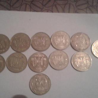 50коп с 2007,2008,2009,2010,2014