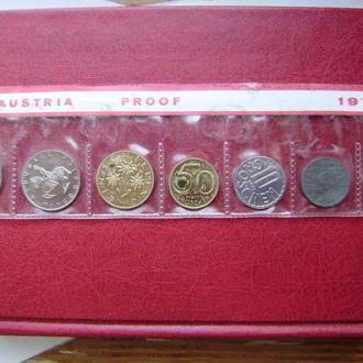 Австрия годовой набор монет 1977