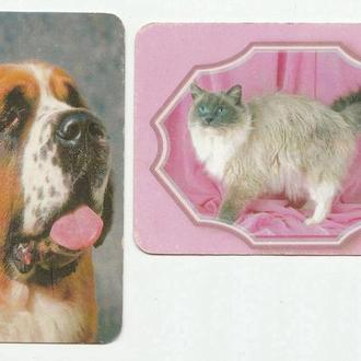 Календарики 2001 Кошка, собака