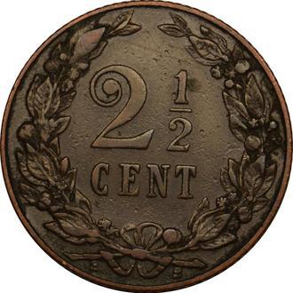 Нідерланди 2 1/2  цента  1906