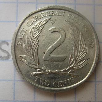 ВОСТОЧНО-КАРИБСКИЕ ГОСУДАРСТВА, 2 цента 2002 года.
