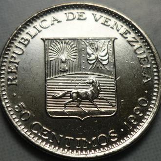 Венесуэла 50 сентимо 1990