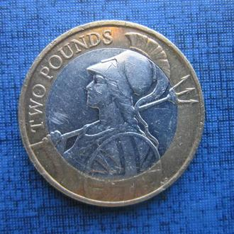 монета 2 фунта Великобритания 2016 Британия воительница