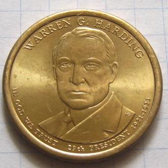 США_ 1 доллар 2014 года D  29-й президент  Уоррен Гардинг
