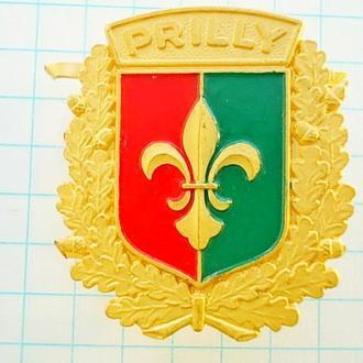 №167 Значок PRILLY Прилли - муниципалитет в кантоне Во Швейцария герб