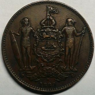 Северное Борнео 1 цент 1889 год В ОТЛИЧНОМ СОХРАНЕ