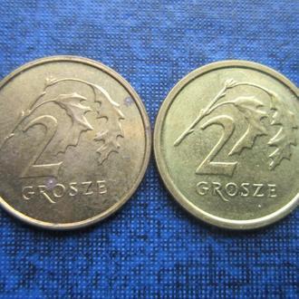 2 монеты по 2 гроша Польша 1914 старого и нового образца