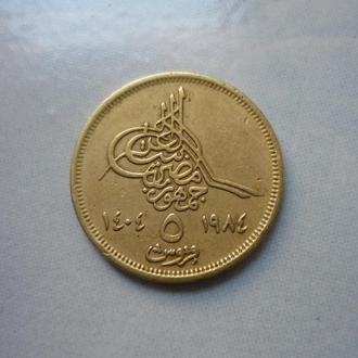 Египет 5 пиастров 1404-1984