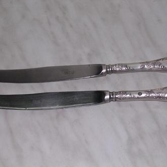 ножи столовые посеребренные и ложка РОЗА
