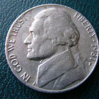 США 5 центов 1981