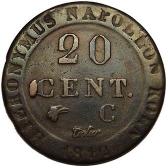 Королівство Вестфалія 20 Centimes (Hieronymus Napoleon)  1812 С   Срібло   B11