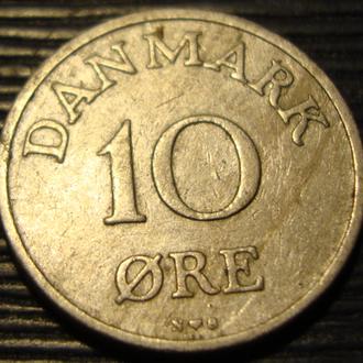 Дания 10 ойре 1952 год