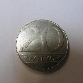 20 Злотих Злотых Польща Польша 1990 рік