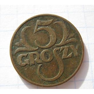 5 ГРОШ 1937 ПОЛЬЩА