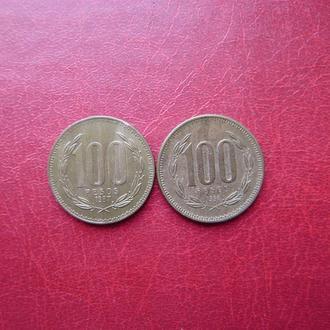 Чили 100 песо 1987, 1993