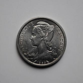 Французское Сомали 1 франк 1959 г., UNC, 'Колония Франции (1948-1965)'