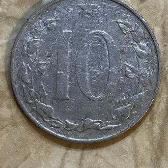 Монета - Чехословакия , 10 геллеров 1955 года
