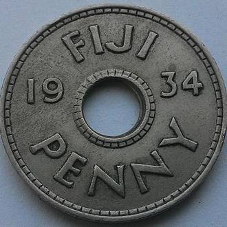 Фиджи 1 пенни 1934