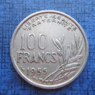 монета 100 франков Франция 1955 В