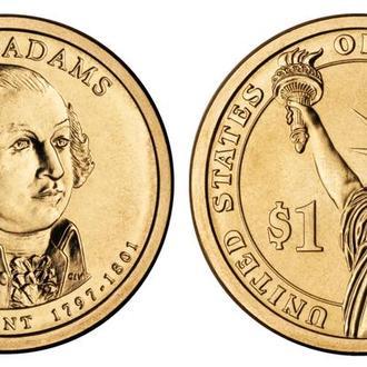 1 доллар - 2 президент США - John Adams - Джон Адамс