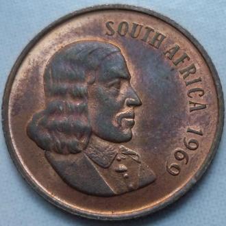 ЮАР 2 цента 1969 фауна состояние