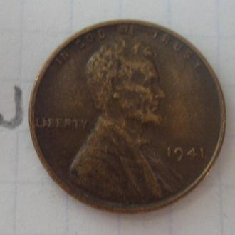 США. 1 цент 1941 года.