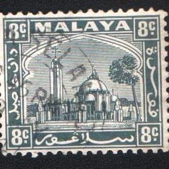 Малайя, Селангор (1935) Британская колония. Дворец султана в Кланге