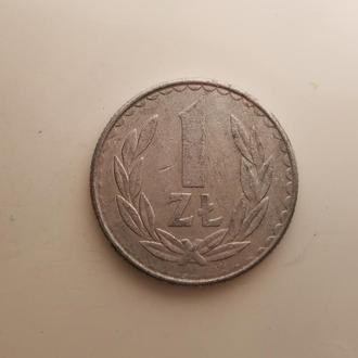 Польша 1 злотый 1987 год