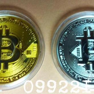 Красивый сувенирный набор монет Биткоин/Bitcoin