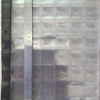 ЛИСТ КУЛИСА ДЛЯ МОНЕТ СИЛИКОНОВЫЙ формат Гранд А-4 10 штук 6х8 = 48 ячеек Размер ячейки 33х34 мм