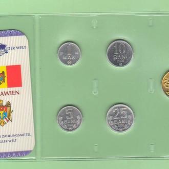 Набор монет МОЛДОВА блистер запайка МОЛДАВИЯ пластик