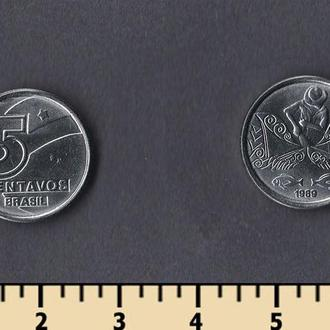 Бразилия 5 сентаво 1989-1990