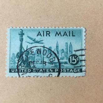 Америка/ США/ Авиапочта/ самолет/ техника/ 1947